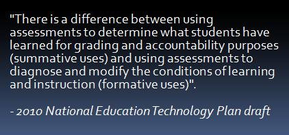5 Examples of Improved Approaches to Assessment (from the 2010 NETP