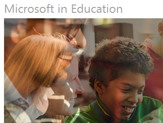 Microsoft in Education image and link