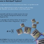 SketchPad Explorer is a fun free (until Sep 1) iPad math app for grades 3 to 12
