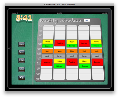 App Class Blocks screen image