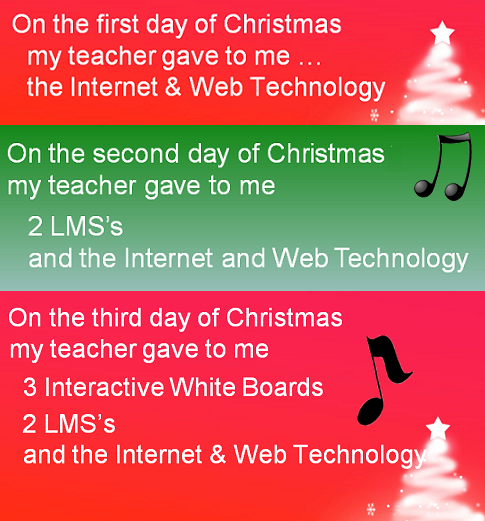 1st Day Of Christmas Song >> The Twelve Days Of Ed Tech Christmas | Emerging Education Technologies