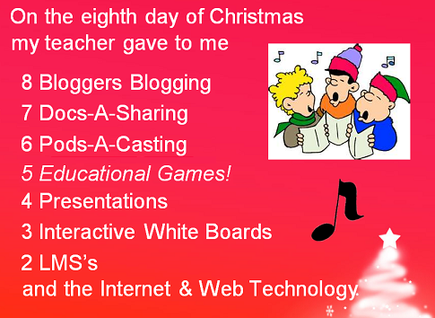 12 days of ed tech xmas pic (chorus image from http://toeas.com/clipart/christmas-clip-art/)