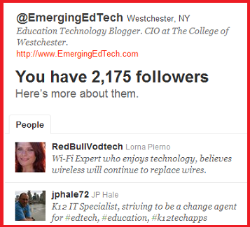 EmergingEdTech Twitter followers graphic