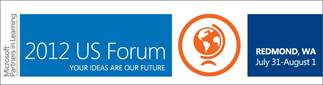 2012 Partners in Learning US Forum from Microsoft logo and link