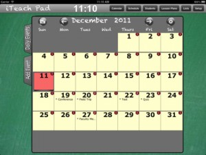iTeach Pad iPad app Calendar module image