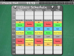 iTeach Pad Scheduling module picture