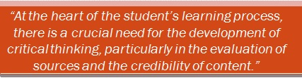Source Evaluation and Content Credibility Quote Image