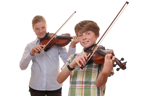 Students playing violin Shutterstock image 113024695