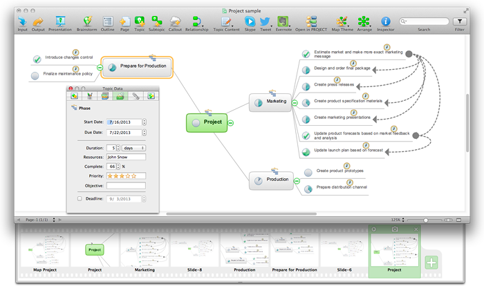 ConceptDraw-mind-map-project-sample