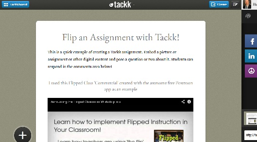 Tackk Example easy free flipped content creation