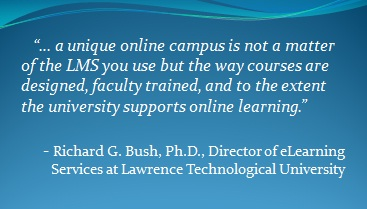 Unique Online Campus quote