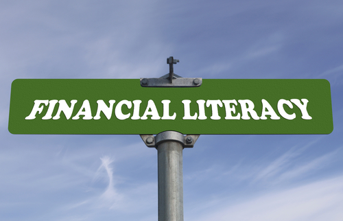 financial literacy road sign image shutterstock_147795743