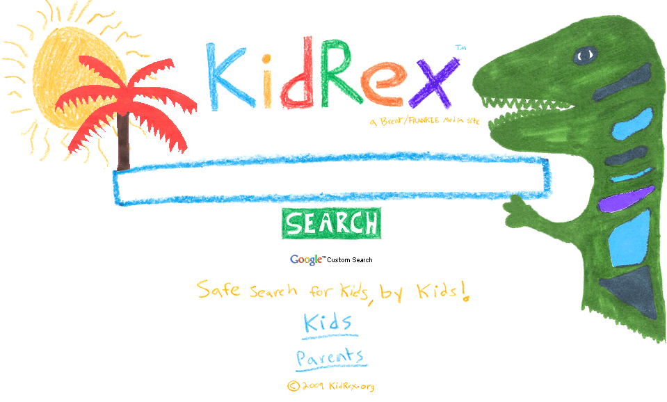 KidRex safe search engine