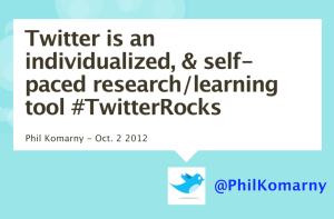 Phil Komarny Twitter Self Paced Learning