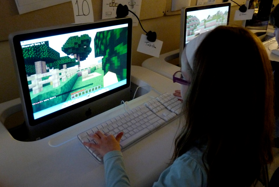 Minecraft in classroom image