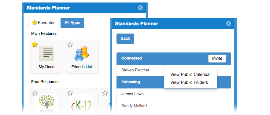 Standards Planner – Manage Lesson Materials and Resources in Minutes