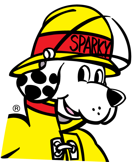 learning about fire safety is fun with sparky the firedog Police Hat Clip Art Hard Hat Clip Art