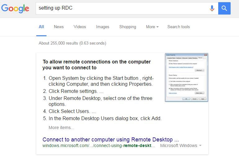 Remote Desktop Connection – Access Your Desktop from Other Computers