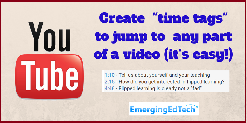 "How to Add ""Time Tags"" to Youtube Vids (so Viewers can Jump"