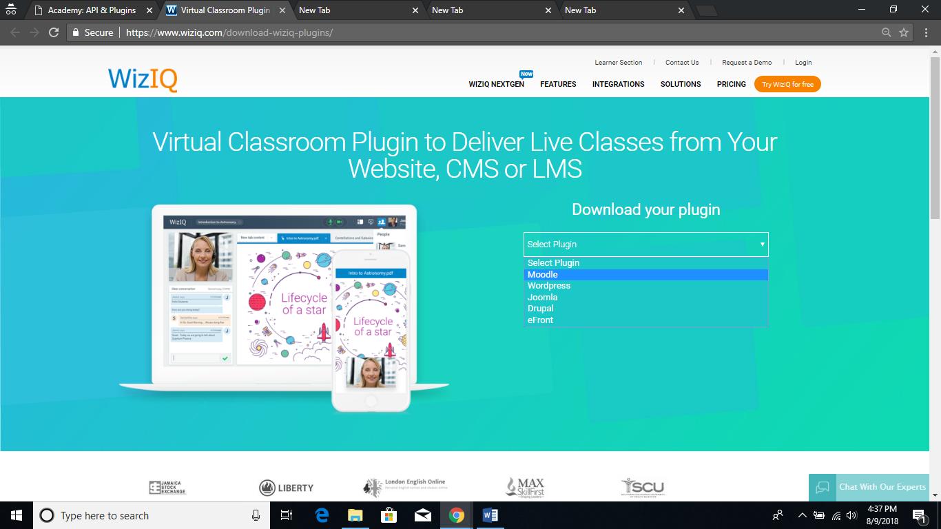 WizIQ Virtual Classroom Plugin for Moodle – Integrate Live Class